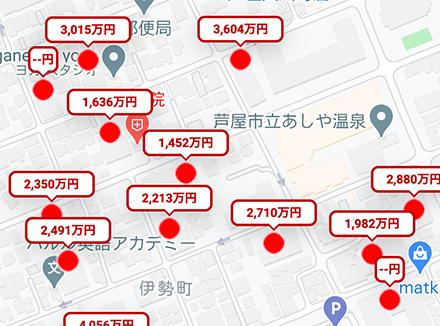 地図版S-MAP(相場マップ)サービス